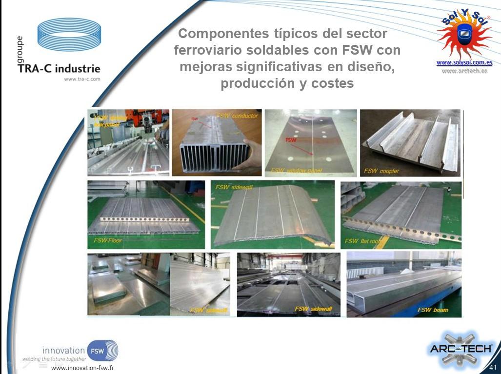 Diferentes aplicaciones actuales en fabricacion de trenes