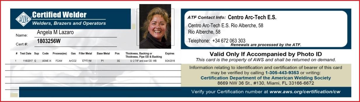 Primer AWS- Certified Welder de Europa