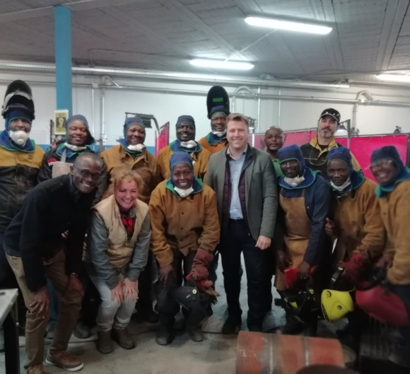 Welder training in solysol