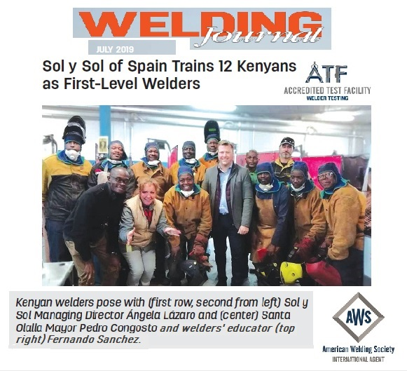 Welding Journal solysol certification