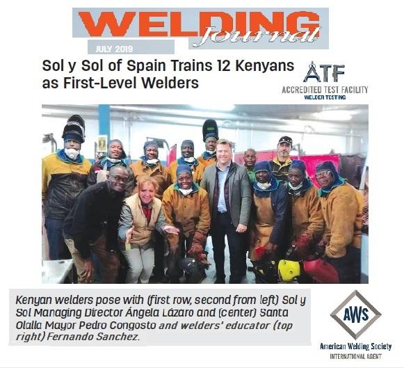 Welding Journal solysol certification
