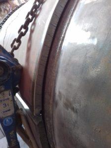 Jacketing tube repair by welding