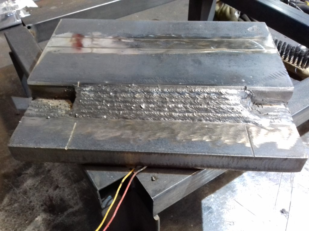 fillet welding in overlap joint