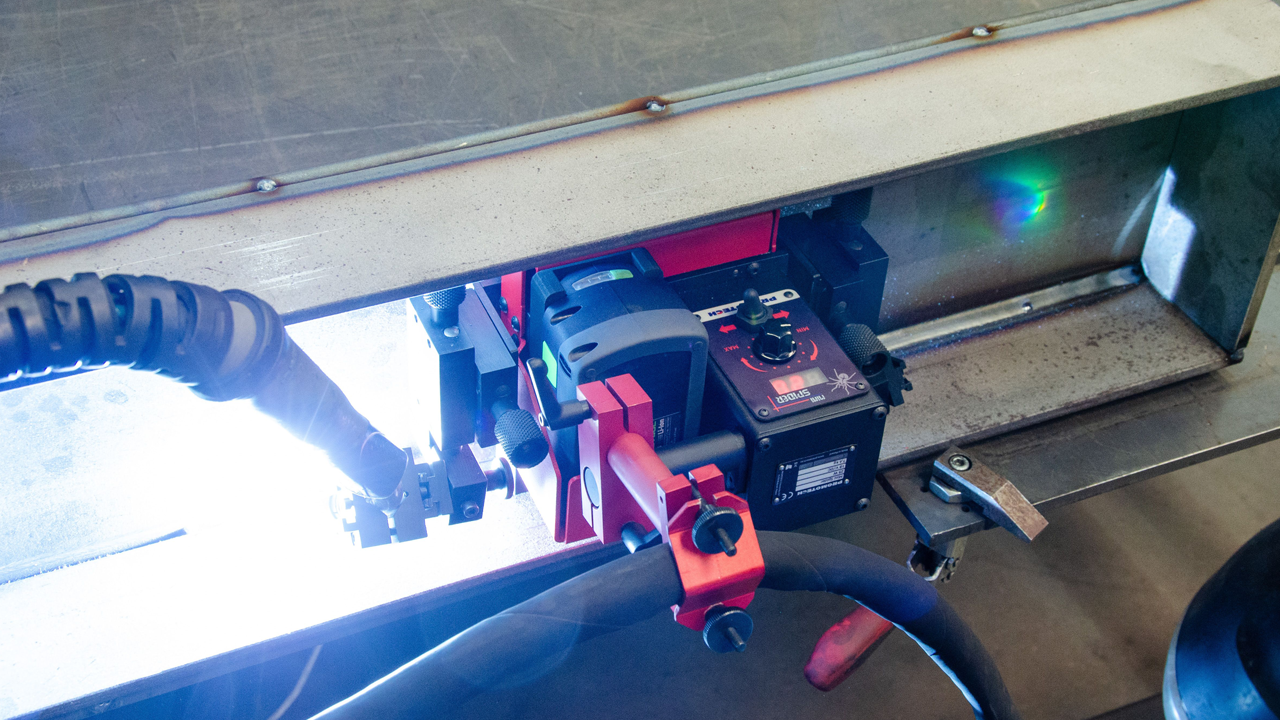 Carro automático mínimo tamaño para soldadura lineal