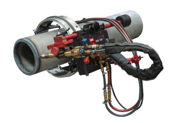Carro automático para corte y soldadura de chapa plana o curvada y tubo