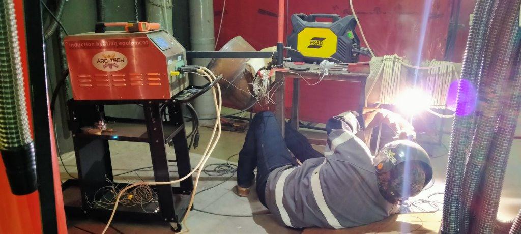Homologación de procedimiento de soldadura inducción