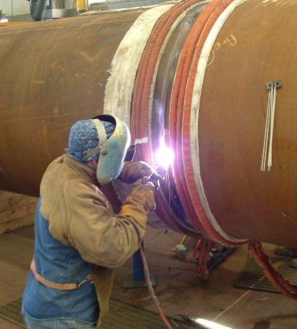 Precalentamiento soldadura de tubo