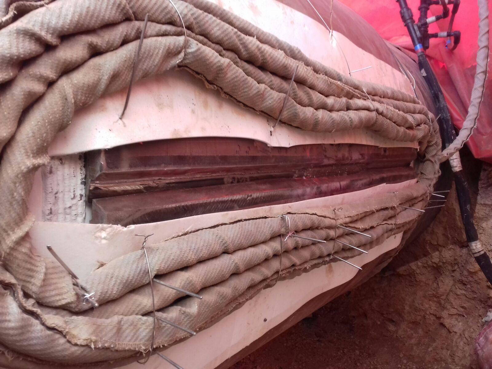 Permanent repair welding on pipeline